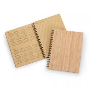 caderno Agenda permanente com capa em laminado de bambu blo2072