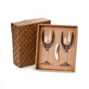 Kit para vinho com abridor saca-rolha cop6122