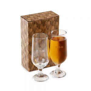 Conjunto com 2 copos para suco/cerveja