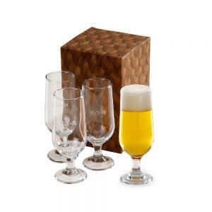 Conjunto com 4 copos para suco/cerveja cop6179