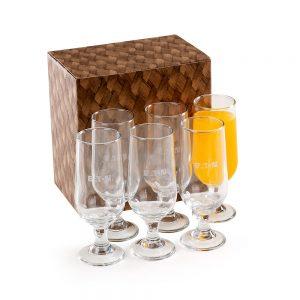 Conjunto com 6 copos para suco/cerveja cop6180