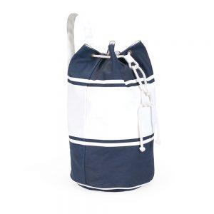 Saco mochila algodão azul/branco SAC3047