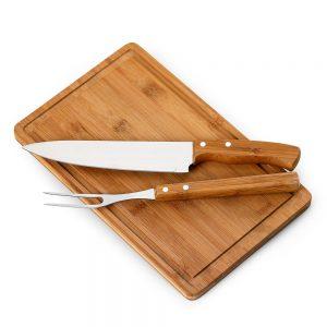 xtb4160 Kit churrasco 3 peças bambu / inox