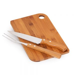 Kit churrasco promocional 3 peças bambu / inox xtb4237