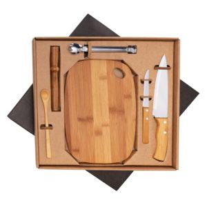 Kit bar em bambu 6 peças BAR5062