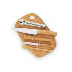 bar5063 Kit bar em bambu 6 peças