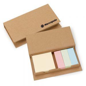 Bloco revestido em papel reciclado com auto colantes 4 cores blo2033
