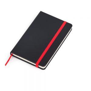 Caderneta de anotações capa preta (80 folhas) – vermelho blo2066