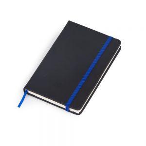 Caderneta de anotações capa preta (80 folhas) – azul blo2067