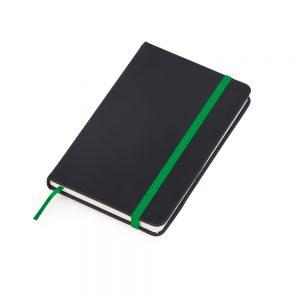 Caderneta de anotações capa preta (80 folhas) – verde blo2068