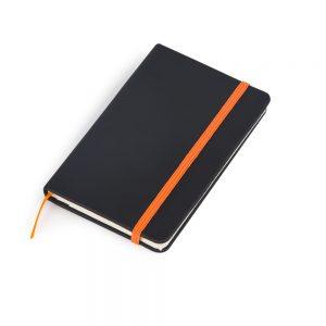 Caderneta de anotações capa preta (80 folhas) – laranja blo2069