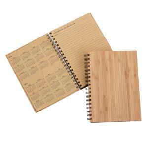 caderno Agenda permanente com capa em laminado de  bambu blo2071
