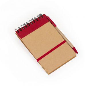 Bloco capa reciclada blo2074 vermelho