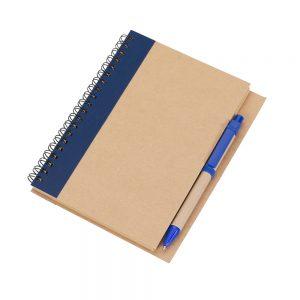 Caderneta capa reciclada blo2075 azul