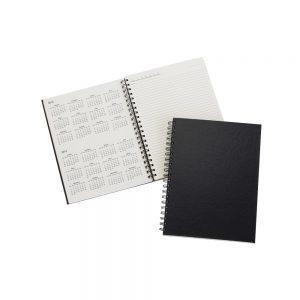 Caderno Agenda permanente com capa dura na cor preta blo2078