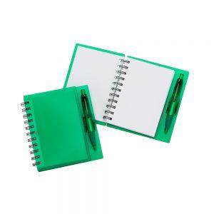 Caderneta de anotações blo2080 verde