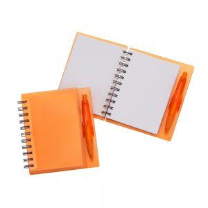 Caderneta de anotações blo2081 laranja