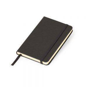 Caderneta MLSK de anotações com capa rígida na cor preta blo2085