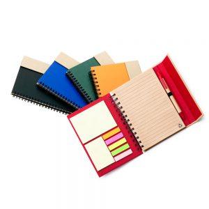 BLO2050/1/2/3/4   Caderno com 7 auto colantes e caneta (70 fls)