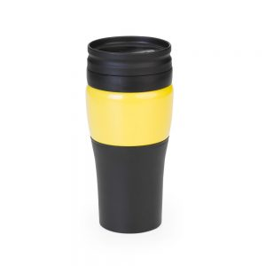 cnc6144 Copo revestido em aço inox amarelo – 400ml