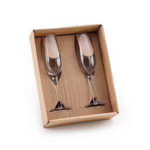 Kit com 2 taças para champanhe cop6155