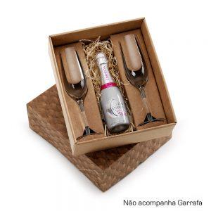 Kit com 2 taças para champanhe cop6156