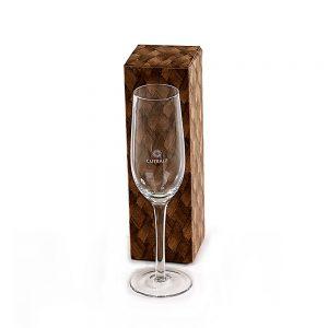 Taça para champanhe com caixa presente cop6160