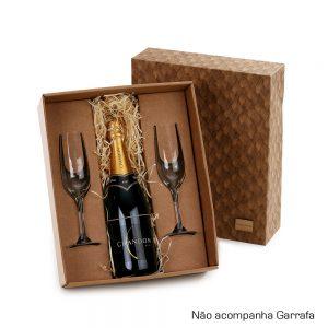 Kit com 2 taças para champanhe cop6164