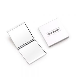 Espelho duplo em alumínio fem1057