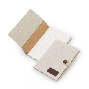 Caderno pautado com capa ecológica pas2064