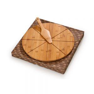 piz5058 Tábua para pizza em bambu com espátula
