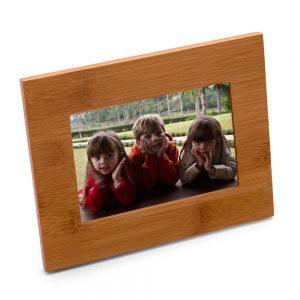 Porta-retratos em bambu horizontal prm1067