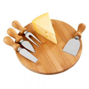 Kit queijo com tábua em bambu que5037