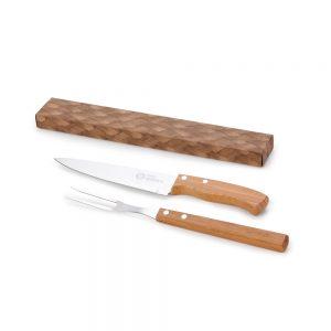 xcx4132 Kit churrasco 2 peças bambu / inox