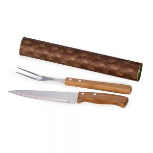 xtu41120 Tubo para churrasco 2 peças bambu / inox