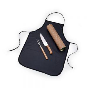 xtu4122 Tubo para churrasco 3 peças bambu / inox